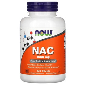 Now Foods NAC 1000mg 120 Tablets